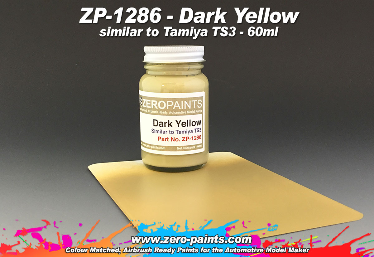 Dark Yellow Similar To Ts3 60ml Zp 1286 Zero Paints