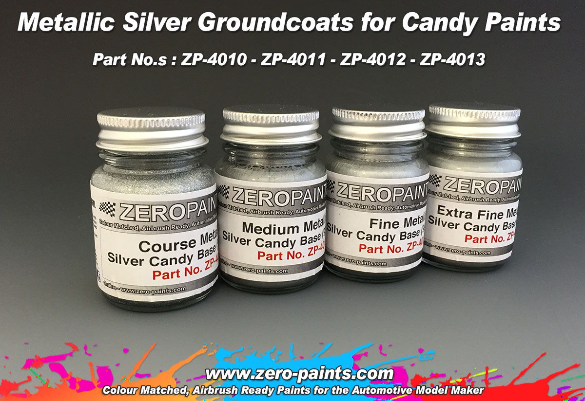 Medium metallic silver groundcoat for candy paints 60ml for How to make silver paint