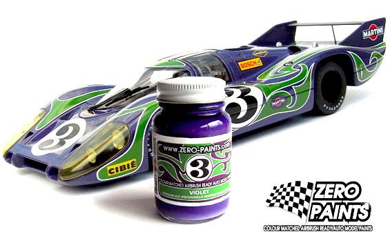 Porsche 917 Purple Hippie Psychedelic Martini Racing Team