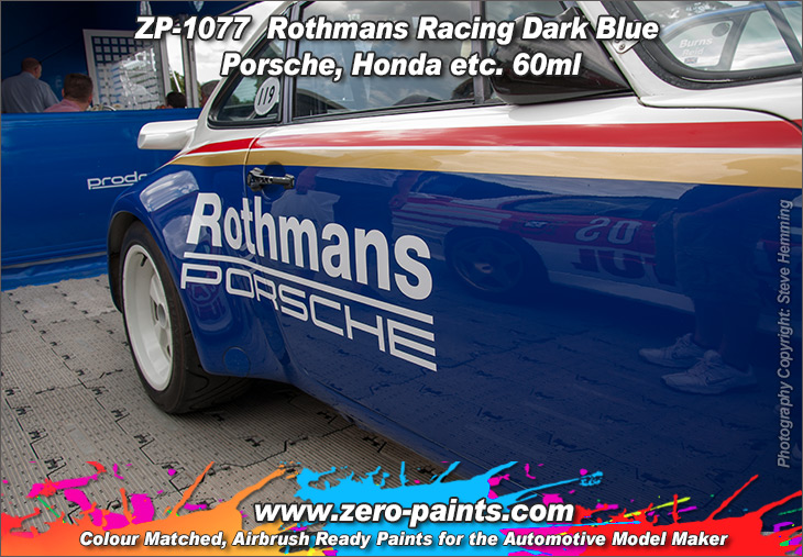 Rothmans Racing Dark Blue Porsche Honda 60ml Zp 1077