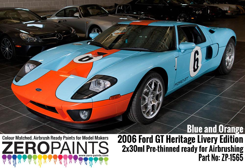2006 Ford Gt Heritage Livery Edition Blue And Orange Paint