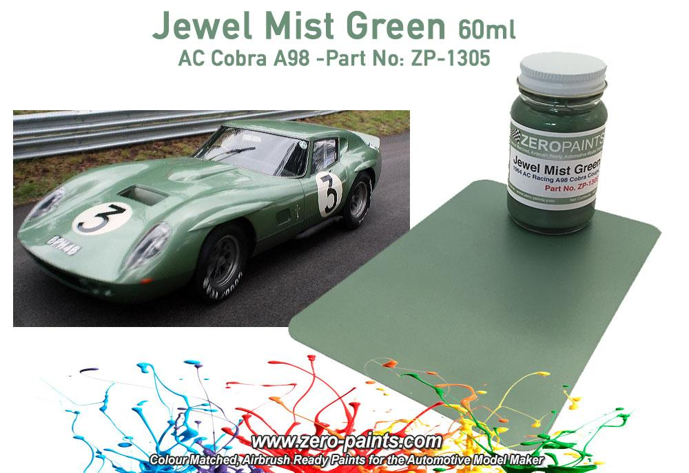 Ac Cobra Coupe A98 Le Mans 1964 Jewel Mist Green Paint 60ml Zp 1305 Zero Paints