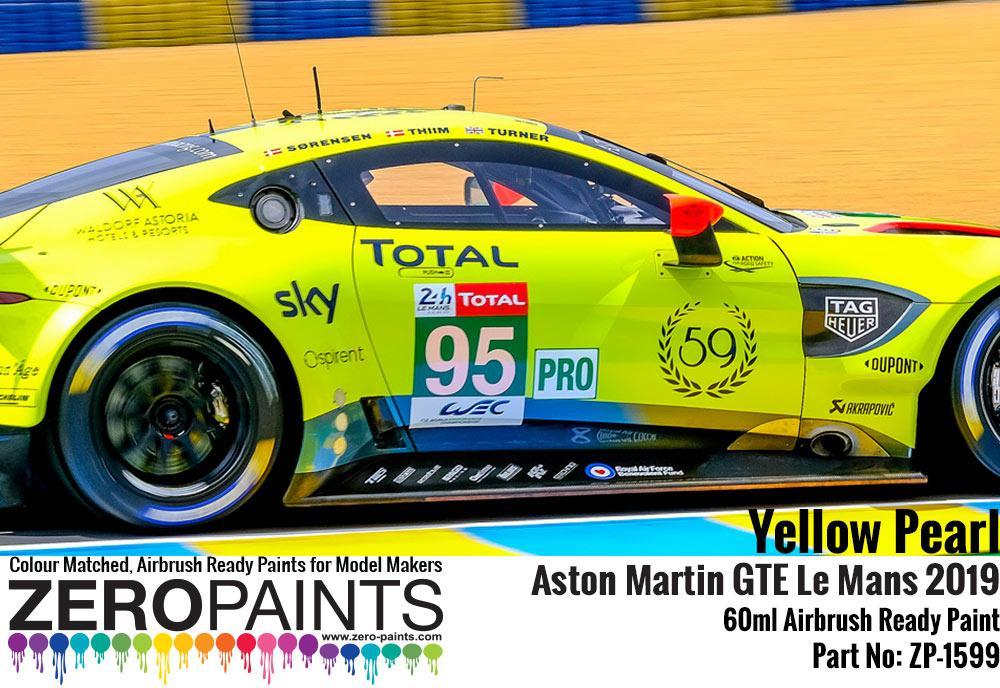 Yellow Pearl Aston Martin Gte Le Mans 2019 Paint 60ml Zp 1599 Zero Paints