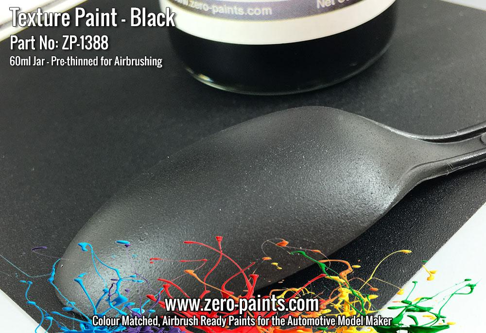 Black Textured Paint - 60ml (Engines, Interiors etc)   ZP