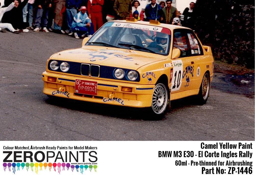 Camel Yellow For Bmw M3 E30 El Corte Ingles Rally
