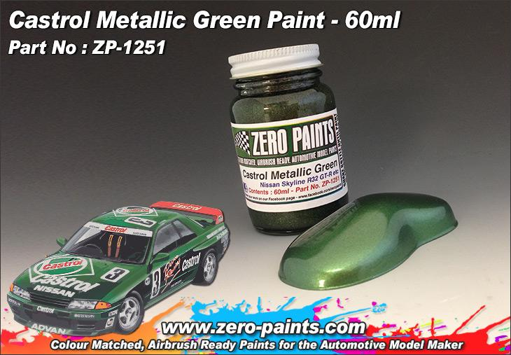 Castrol Metallic Green Paint Nissan Skyline Gr N Primera Jtcc Etc 60ml Zp 1251 Zero Paints