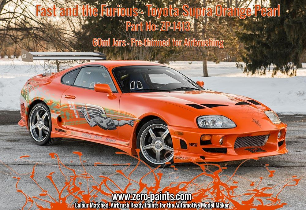 Toyota Supra The Fast And The Furious >> Fast And The Furious Toyota Supra Orange Pearl Paint 60ml Zp 1413