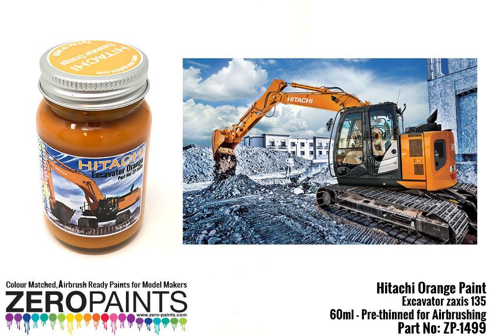 Hitachi Orange Excavator Colour Paint 60ml | ZP-1499 | Zero Paints