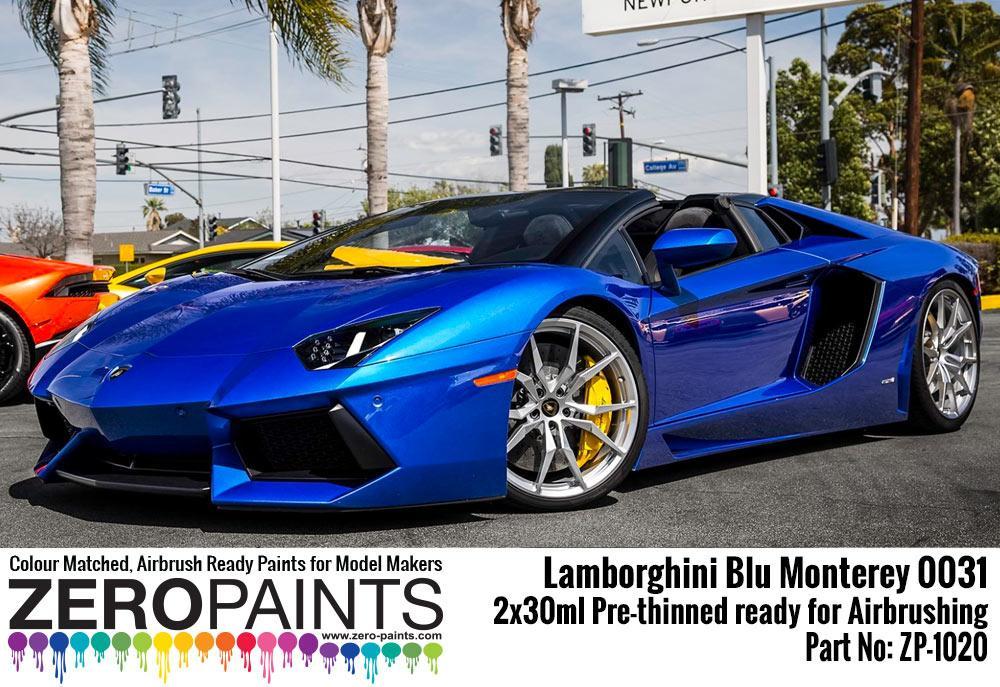 Lamborghini Blu Monterey Paint Set 2x30ml Zp 1020 Zero Paints