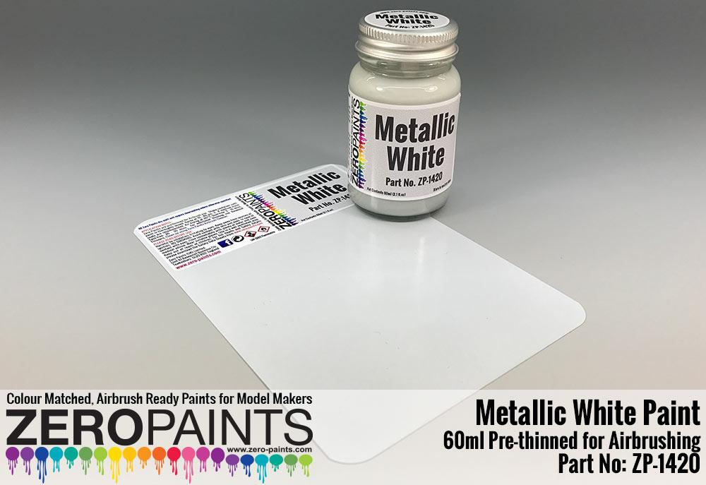 metallic white paint 60ml zp 1420 zero paints. Black Bedroom Furniture Sets. Home Design Ideas