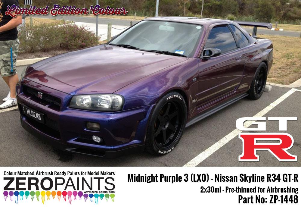Midnight Purple 3 Lx0 Nissan Gt R R34 2x30ml Limited Edition Colour