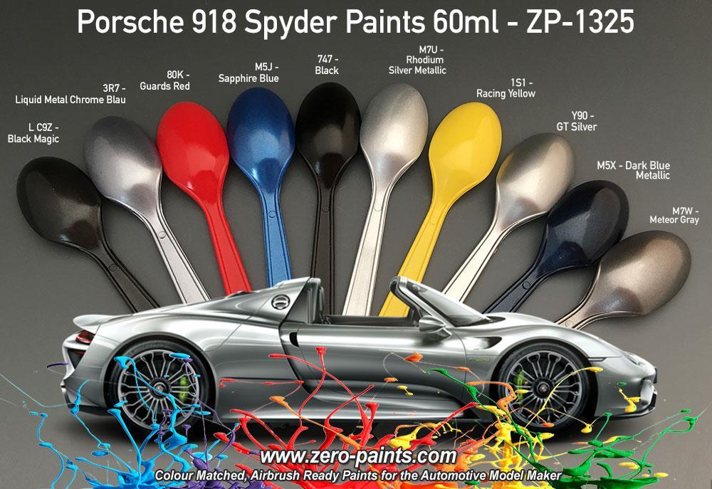 Porsche 918 Colour Matched Paints 60ml | ZP-1325 | Zero Paints on porsche cayenne paint colors, porsche 911 turbo light blue color, porsche paint color chart,