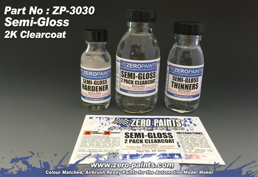 Semi-Gloss (Satin) 2 Pack Clearcoat 100ml (2K Urethane) | ZP