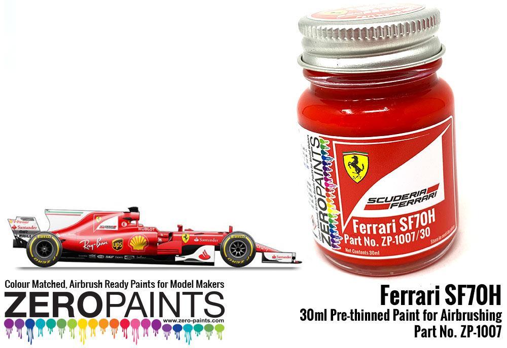 Ferrari Sf70h 2017 Formula One Red Paint 30ml Zp 1007 30 Zero Paints