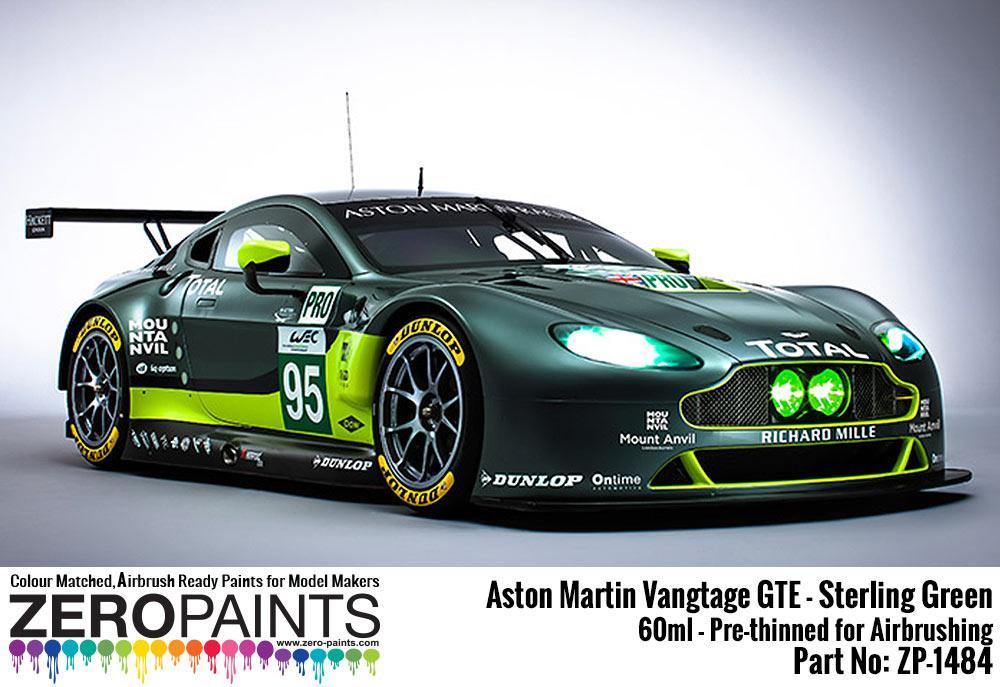Aston Martin Vantage Gte Sterling Green Paint 60ml Zp 1484 Zero Paints