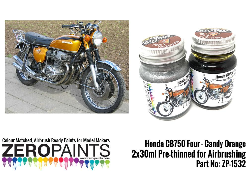 Honda Cb750 Four Candy Orange Paint Set 2x30ml Zp 1532 Zero Paints