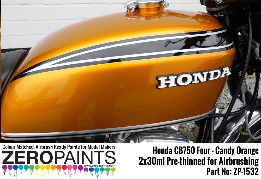 Honda Cb750 Four Candy Orange Paint Set 2x30ml