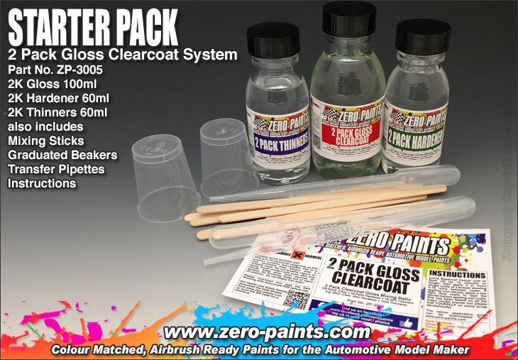 STARTER PACK - 2 Pack GLOSS Clearcoat Set (2K Urethane)   ZP