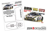 1:24 BMW M6 GT3 Window Painting Masks (Platz-NuNu)