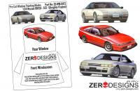 1:24 Nissan 180SX - S13 - Sileighty Pre Cut Window Painting Masks (Fujimi)