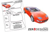 1:24 Nissan 300ZX Window Painting Masks (Tamiya)
