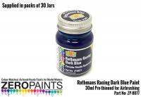 30ml Rothmans Racing Dark Blue Porsche/Honda - Bulk Pack 30 Jars