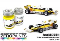 Renault RE30 1981 Yellow and White Paint Set 2x30ml