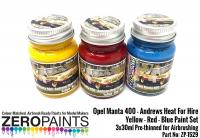 Opel Manta 400 Group B - Andrews Heat for Hire - Yellow, Red and Blue Paint Set 3x30ml