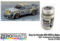 Grey for Porsche 934 1979 #84 Le Mans Paint 60ml