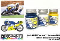 "Honda NSR500 ""Moriwaki"" S. Yatsushiro 1986 Paints 3x30ml"