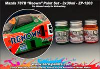 Mazda 787B Renown Paint Set - 3x30ml