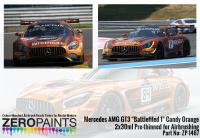 "Mercedes AMG GT3 ""Battlefiled 1"" Candy Orange Paint 2x30ml"