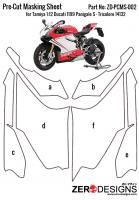 Pre-Cut Masking Sheet Tamiya 1:12 Ducati 1199 Panigale S - Tricolore 14132