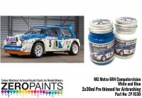 MG Metro 6R4 Computervision - White and Blue Paint Set 2x30ml