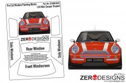 1:24 Mini Cooper Pre Cut Window Painting Masks (Fujimi)