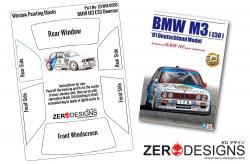 1:24 BMW M3 E30 Window Painting Masks (Beemax)