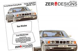 1:24 BMW M5 Pre Cut Window Painting Masks (Fujimi)