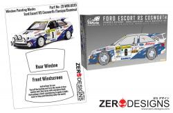 1:24 Ford Escort RS Cosworth Window Painting Masks (Tamiya/Domino)