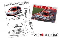1:24 Honda Civic EF9 Pre Cut Window Painting Masks (Beemax)