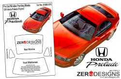 1:24 Honda Prelude Pre Cut Window Painting Masks (Fujimi)