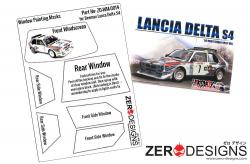 1:24 Lancia Delta S4 Rally Window Painting Masks (Beemax)