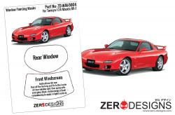 1:24 Mazda RX-7 FD3S Window Painting Masks (Tamiya)
