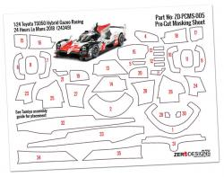 Pre-Cut Masking Sheet Toyota TS050 Hybrid Gazoo Racing - (For Tamiya 24349)