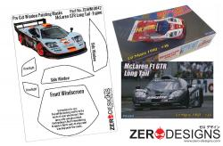 1:24 Mclaren F1 GTR Long Tail Pre Cut Window Painting Masks (Fujimi)