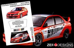 1:24 Mitsubishi Lancer Evo VIII Pre Cut Window Painting Masks (Fujimi)