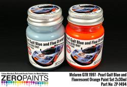 Mclaren F1 GTR 1997 - Pearl Gulf Blue and Fluorescent Orange Paint Set 2x30ml