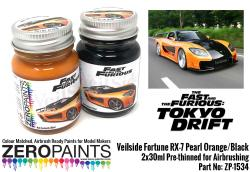 Veilside Fortune RX-7 Pearl Orange/Black Paint Set 2x30ml