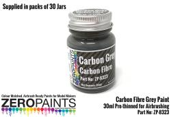 30ml Carbon Grey (Carbon Fibre Grey) Paint - Bulk Pack 30 Jars