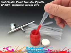 3ml Plastic Paint Pipettes (Various Qty's Available)