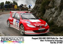 Peugeot 206 WRC 2003 Rally Red Paint 60ml